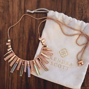 KENDRA SCOTT // louise necklace // rose gold